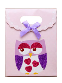 Gift box / Owl gift box with velcro top. 16x12.5x6cm