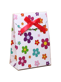 Gift box / Daisy flower gift box with velcro top. 13x9x5cm.