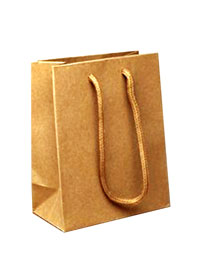 Gift Bag / Small Natural brown paper gift bag. 14.5x11.5x6cm