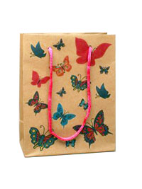 Gift bag / Butterfly gift bag 15x12x6cm