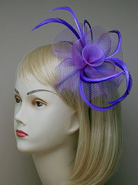 Fascinator / Josie - Matching colour aliceband net.