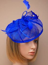 Fascinator / Olivia - Royal Large looped sinamay hatinator.