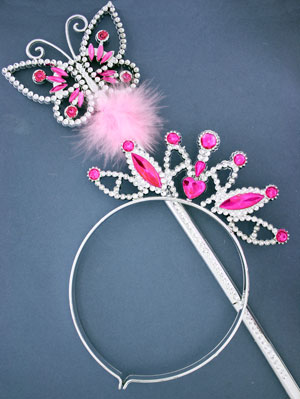 Wand and tiara set.Butterfly