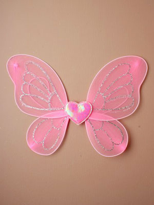 Fairy Wings / Small pink fairy wings. 34x24cm