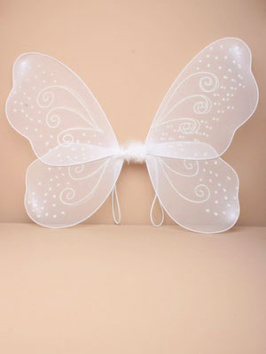 Fairy Wings / White fairy wings with white glitter.Size: 51x