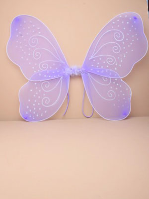Fairy Wings / Lilac fairy wings with white glitter. Size : 5