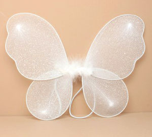 Fairy Wings / Small glitter fairy wings in White only