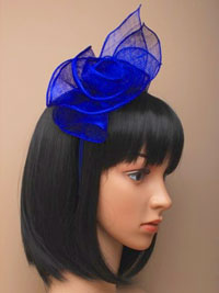 Aliceband / Catherine -Royal rose sinamay fascinator.