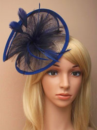 Hatinator / Harriet - Navy Large twisted fascinator.