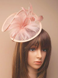 Hatinator / Harriet - Large nude twist sinamay fascinator.