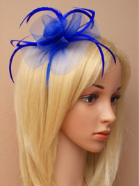 Fascinator / Josie - Royal aliceband with looped netting.