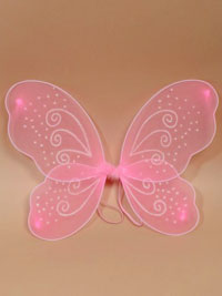 Fairy Wings / Pink fairy wings with white glitter. 55x42cm
