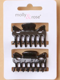 Clamps / 2 pk Black 4cm clamps.