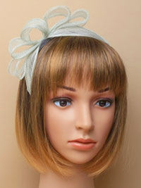 Fascinator / Nicole - Pale sage green sinamay fascinator.