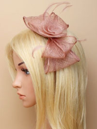 Fascinator / Faye - Mocha Looped sinamay fascinator /alice