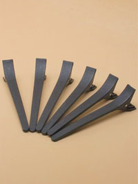 Clips / Pack of 6, 12cm Black plastic sectioning clip.