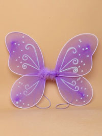 Fairy Wings /  Lilac fairy wings with white glitter.