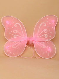 Fairy Wings / Pink fairy wings with white glitter.