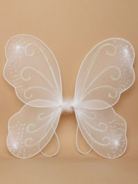 Fairy Wings / White fairy wings with white glitter.