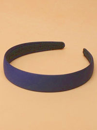 Aliceband / Navy low sheen Satin Fabric 2.5cm aliceband