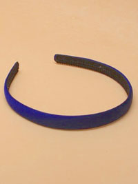 Aliceband / Navy low sheen Satin Fabric 1.5cm aliceband.