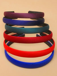 Aliceband /School colours low sheen Satin Fabric 1.5cm alice