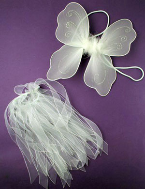 SET / Small Wings and tutu set in white only